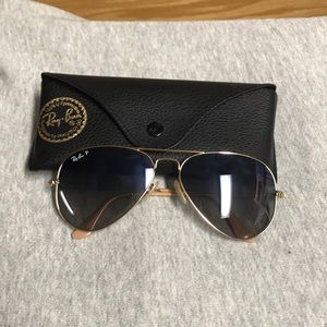 Ray Ban Aviators (Blue+Gold Gradient)